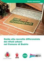 Guida alla raccolta differenziata dei rifiuti urbani nel Comune di Budrio