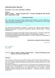 politiche e servizi per il sistema - Unione del Commercio di Milano