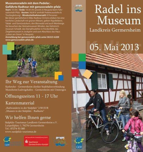 Radel ins Museum 2013 Flyer web - Südpfalz Tourismus
