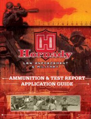 Ammunition Test Report and Application Guide - Hornadyle.com