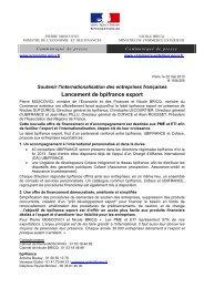 Lancement de bpifrance export