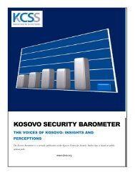 KOSOVO SECURITY BAROMETER