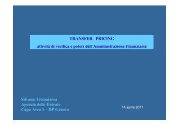 Silvana Trematerra - transfer pricing verifiche - Confindustria Genova