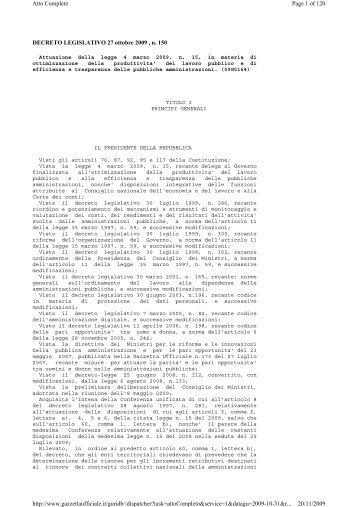 Testo Completo - uil fpl segreteria provinciale di napoli