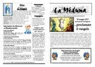 La Miduna 20 maggio 2012 - Parrocchie della Valmeduna