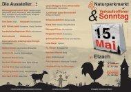 Verkaufsoffener Sonntag 11 -17 Uhr 13 - Gewerbeverein Elzach eV