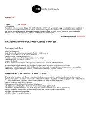 finanziamento chirografario aziende - fondi bei - Banca Popolare di ...