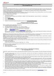 Informativa e questionario DBU per rete fissa ... - Telecom Italia
