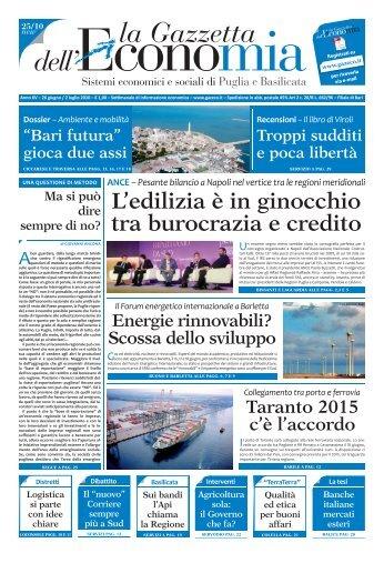 GE 25_10.indd - La Gazzetta dell'Economia