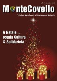A Natale ... regala Cultura & Solidarietà - Montecovello News