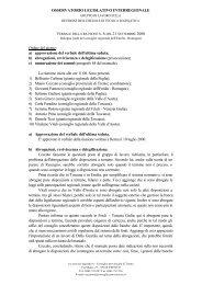 Verbale della riunione n. 6 del 21 settembre - Consiglio Regionale ...