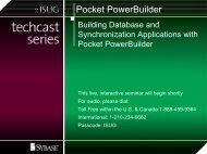 Pocket PowerBuilder Key Features - Sybase