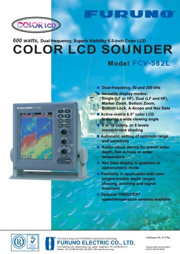 600 watts, COLOR LCD SOUNDER Model FCV-582L - Ferropilot