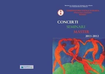 """concerti seminari master - Conservatorio di Musica """"Francesco ..."""