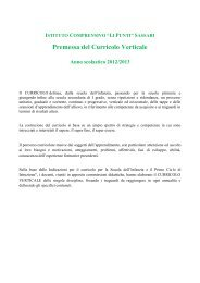 Curricoli verticali 2012-2013 - istituto comprensivo li punti