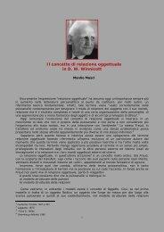 il concetto di relazione oggettuale in winnicott - Psicoterapeuti.info