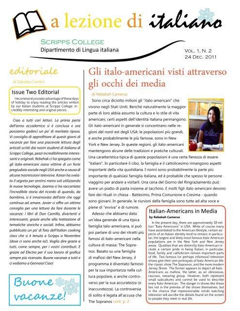a lezione di italiano - Scripps College