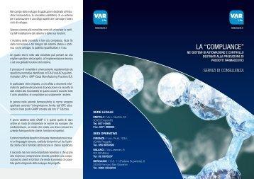 Scarica depliant Compliance - VAR Life srl