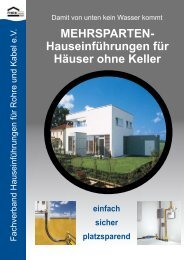 MEHRSPARTENHauseinführungen für Häuser ... - Stadtwerke Wedel
