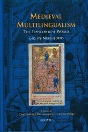 MEDIEVAL MULTILINGUALISM - Storia del diritto