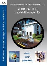 MEHRSPARTEN- Hauseinführungen für - Stadtwerke Wedel