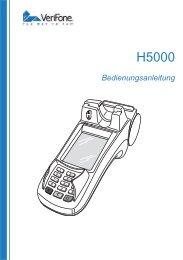 Verifone H5000 Bedienungsanleitung.pdf - B+S Card Service GmbH