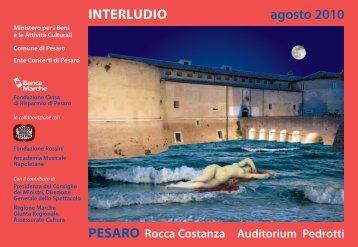 INTERLUDIO agosto 2010 - Ente Concerti di Pesaro