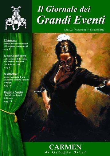 CARMEN - Il giornale dei Grandi Eventi