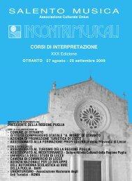 INCONTRI MUSICALI - XXX Edizione - Francesca De Santis