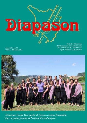 Diapason - Associazione Cori dell Toscana