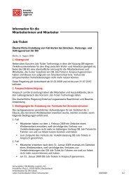 Information für die Mitarbeiterinnen und Mitarbeiter Job-Ticket
