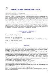 01. Corte di Cassazione, 25 maggio 2007, n. 12235