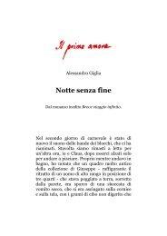 Notte senza fine, di Alessandro Giglia - Il primo amore