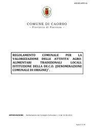 REGOLAMENTO DE.CO. definitivo - 2 - Comune di Caorso