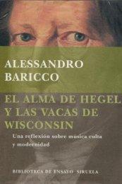 El Alma de Hegel y las vacas de Wisconsin - arMario