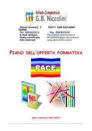 piano dell 'offerta formativa - Portale Istituto Comprensivo GB ...