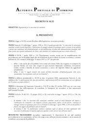 Regolamento per la concessione dei contributi - Autorità Portuale di ...