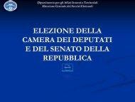 Elezione della Camera dei deputati e del Senato - Provincia di Milano