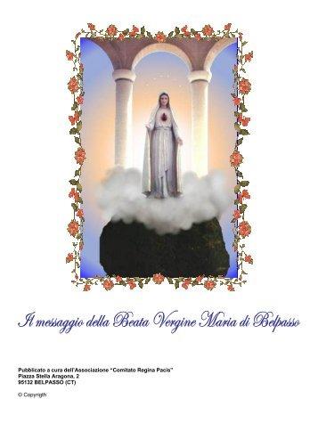 """Pubblicato a cura dell'Associazione """"Comitato Regina Pacis"""" Piazza ..."""