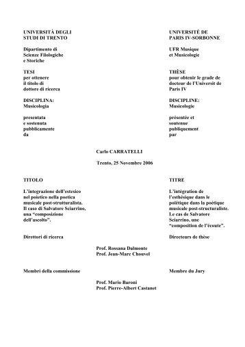 Tesi completa - Salvatore Sciarrino
