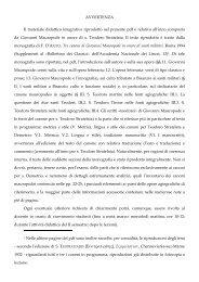 AVVERTENZA Il materiale didattico integrativo riprodotto nel ...
