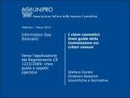 I claim cosmetici: linee guida della Commissione sui criteri ... - Unipro