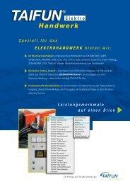 TAIFUN Handwerk, Beilage Elektro 2012 - Taifun Software AG