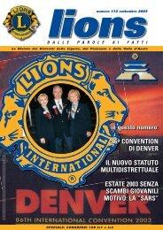 Numero 112 – Settembre 2003 - Rivista Lions