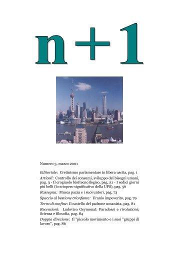 Numero 3, marzo 2001 Editoriale: Cretinismo parlamentare in ... - n+1