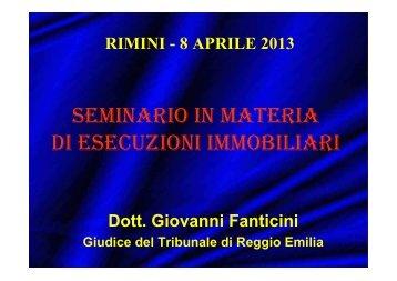 Slides Seminario - Camera Civile Rimini