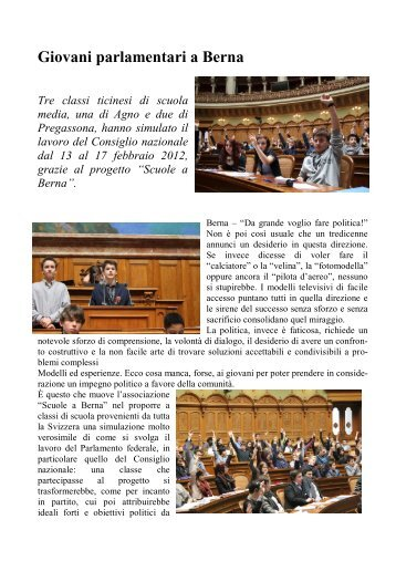 Giovani parlamentari a Berna - Scuola media Pregassona