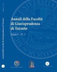 Anno 1 - 2008 - N. 1 - formato pdf - Facoltà di Giurisprudenza ...