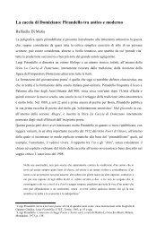 La caccia di Domiziano - Associazione degli Italianisti Italiani