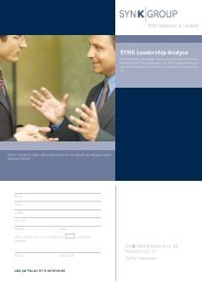 SYNK Leadership-Analyse - Synk Group